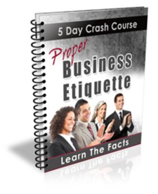 Product picture Proper Business Etiquette